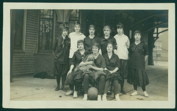 """In 1913, Florence Daisy McCallum began her career as a University of Louisville student and joined the """"girls' basket ball team."""" Her experiences are documented in her journal, which is available in digital form as part of the University of Louisville Images digital collection."""