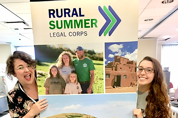 Brandeis Law students Lauren North and Caitlin Kidd are student fellows with the Rural Summer Legal Corps.
