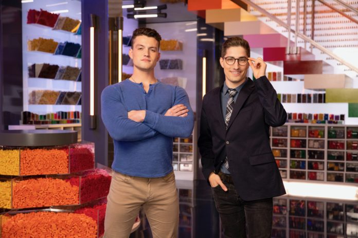 UofL student Christian Cowgill, left, is a competitor on FOX's Lego Masters.